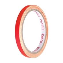 รูปภาพของ เทปพีวีซี ตีเส้น นูโว 9mm.x 9y สีแดง(1x12ม้วน)