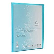 รูปภาพของ แฟ้มโชว์เอกสาร ฟลามิงโก้ 9084-40 23.8x31 ซม. A4 สีฟ้า(1x12เล่ม)