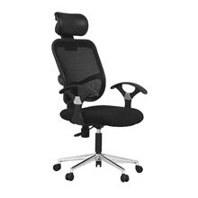 รูปภาพของ เก้าอี้สำนักงาน MONO JO 02/HS ดำ CAT12/HD01 ขาอลูมิเนียม