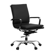 รูปภาพของ เก้าอี้สำนักงาน MONO MATRIX/M ดำ PU ขาเหล็กชุปโคเมียม