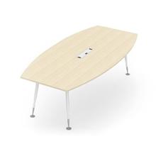 รูปภาพของ โต๊ะประชุมไม้ MONO APCB-2412+CTB410(1) เมเปิ้ล/ขาว
