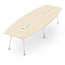 รูปภาพของ โต๊ะประชุมไม้ MONO APCB-3212+CTB410(2) เมเปิ้ล/ขาว