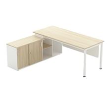 รูปภาพของ โต๊ะทำงานไม้ Workscape 6C1L-1875 เมเปิ้ล/ขาว