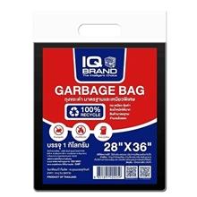 รูปภาพของ ถุงขยะ สีดำ IQ ขนาด 28x36 นิ้ว (แพ็ค 1 กก.)