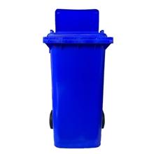 รูปภาพของ ถังขยะสี่เหลี่ยม OTTO 240 ลิตร 2 ล้อ เจาะช่องT สีน้ำเงิน