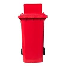 รูปภาพของ ถังขยะสี่เหลี่ยม OTTO 240 ลิตร 2 ล้อ เจาะช่องT สีแดง