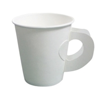 รูปภาพของ แก้วกระดาษมีหูจับสีขาว 8-9 ออนซ์ (แพ็ค50 ใบ)(1x40แพ็ค)