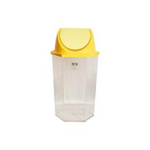 รูปภาพของ ถังขยะหกเหลี่ยมฝาสวิง KEEP IN RW9271+3 ( 56 ลิตร) ฝาเหลือง